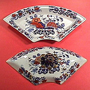 c1825 Imari Japan (Pattern #995) Stone China Supper Service quarter section with Cover