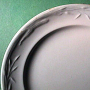 c1860 Corn and Wheat Pattern Ironstone Plate (marked J Wedgwood)