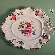 c1825 hand painted and molded English Porcelain Leaf Dish (just 2 left)