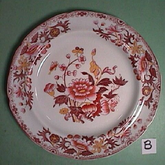 c1822 Spode Stone China printed and hand colored Plate (near perfect, only one remaining)