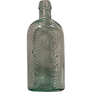 c1847-53 (dated) DR. S.S. FITCH 707 B.WAY NY oval bottle with open ring pontil, NICE.