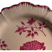 c1774 Wedgwood Creamware Shell-edge Plate with Botanical-style painting (early impressed mark)
