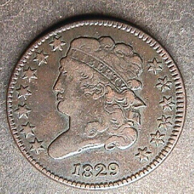 1829 US Half Cent
