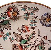 1880 (dated) Wedgwood Enameled Creamware Plate (Ovingtons Brooklyn / Chicago, importer)