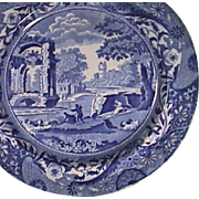c1820 Pearlware Plate with Italian pattern and brocade-style border by John Mare