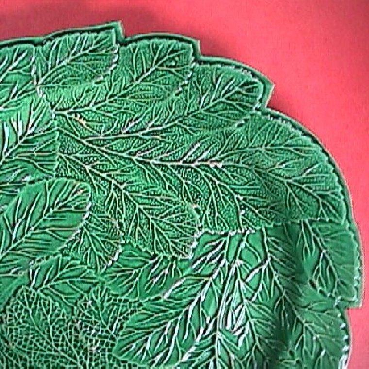 c1815 Green Glazed Creamware Leaf Plate impressed Brameld (Swinton)