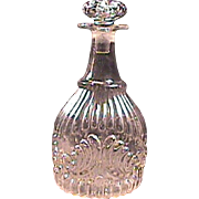 c1825 Sandwich Flint Glass Decanter in Gothic Ribs & Shell motif (three-piece mold with pontil)