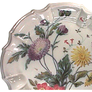 c1835 Italian Fayence Tin Glaze Faience hand painted Plate with a molded Baroque style rim