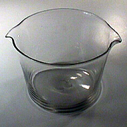 c1810 Hand blown Flint Glass Wine Rinse or Cooler with ground and polished Pontil
