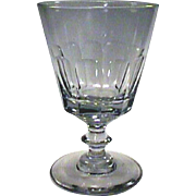 c1815 Hand Blown Slice Cut Bucket Bowl Flint Glass Rummer or Goblet with Button Stem and Pontil