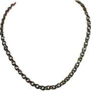 Vintage AVON Open Loop Diamond Cut Deep Red Rhinestone Chain Necklace