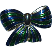 Colorful PARK LANE Enamel Bow Brooch