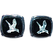 Silvertone Flying Ducks Cuff Links
