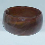 Early Plastic Mottled Chocolate Brown Bangle