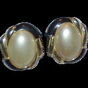 Elegant CAROLEE Mabe' Faux Pearl Earrings