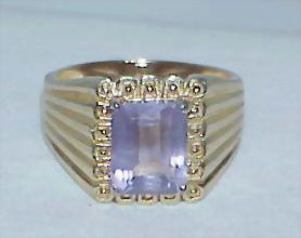 Amethyst Vermeil Sterling Ring