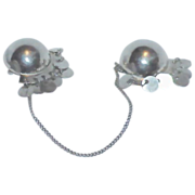 NATACHA BROOKS Sterling Doubles/Chatelaine Brooches