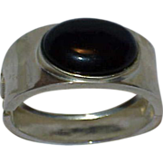 Blue Black Stone Clamper Bracelet