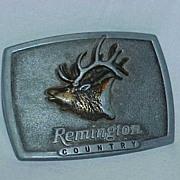 """Remington """"Bugling Elk"""" By Sid Bell Belt Buckle"""