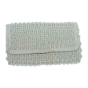 Rosenfeld Beige Bead Evening Bag Clutch