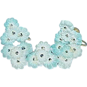 Early Plastic Flower Brooch, Earrings