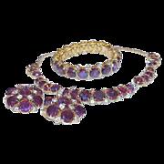 Vintage HATTIE CARNEGIE Full Parure Necklace Bracelet Earrings