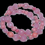 Orange Sherbert/Salmon Pink Flex Necklace/Bracelet