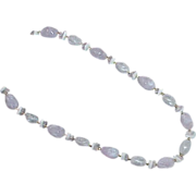 Lavender Free Form Bead Necklace