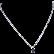 14k Gold Blue/Black Spinel Pendant on Gold Filled Chain