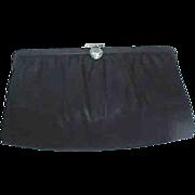 Vintage ANDRE' Black Satin Evening Bag