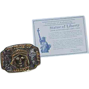 100th Anniversary Statue of Liberty Commemorative Belt Buckle
