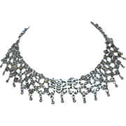 Silver Egyptian Revival Necklace