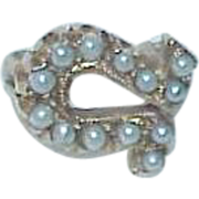 Vintage Pearl and 10k Gold Pin/Brooch