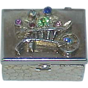Mini Purse Pill/Saccharine Jeweled Box