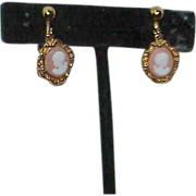 Vintage AVON Dangle Cameo Earrings