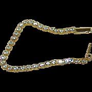 Vintage Crystal Rhinestone Line Bracelet