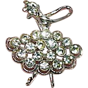 Rhinestone Ballerina Brooch