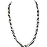 Vintage Two Row Rhinestone Necklace