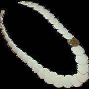 Vintage Reversible Disc Necklace