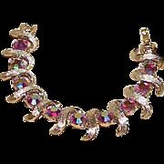 Vintage KRAMER Aurora Borealis Rhinestone Bracelet