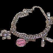 Vintage MONET Young Ladies Charm Bracelet