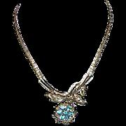 Vintage Lavaliere Style Rhinestone Necklace