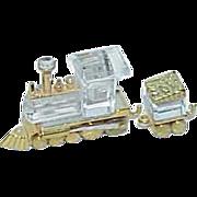 Vintage Swarovski Crystal Train Engine and Tender