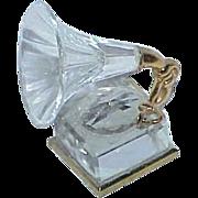 Vintage Swarovski Crystal Old Fashion Phonograph Player