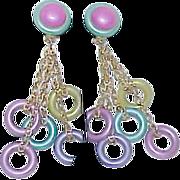 Vintage Funky Colorful Dangle Earrings