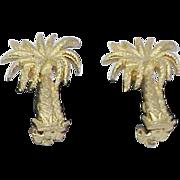 Vintage Palm Tree Earrings