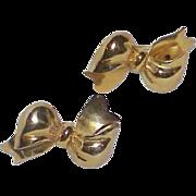 Vintage CORO Screw Back Bow Earrings
