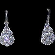 Vintage Rhinestone Paste Ear Bobs Earrings