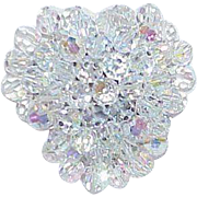 Vintage Rock Crystal Bead Brooch