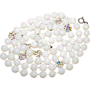 Vintage Acrylic Bead Crystal Bead Necklace